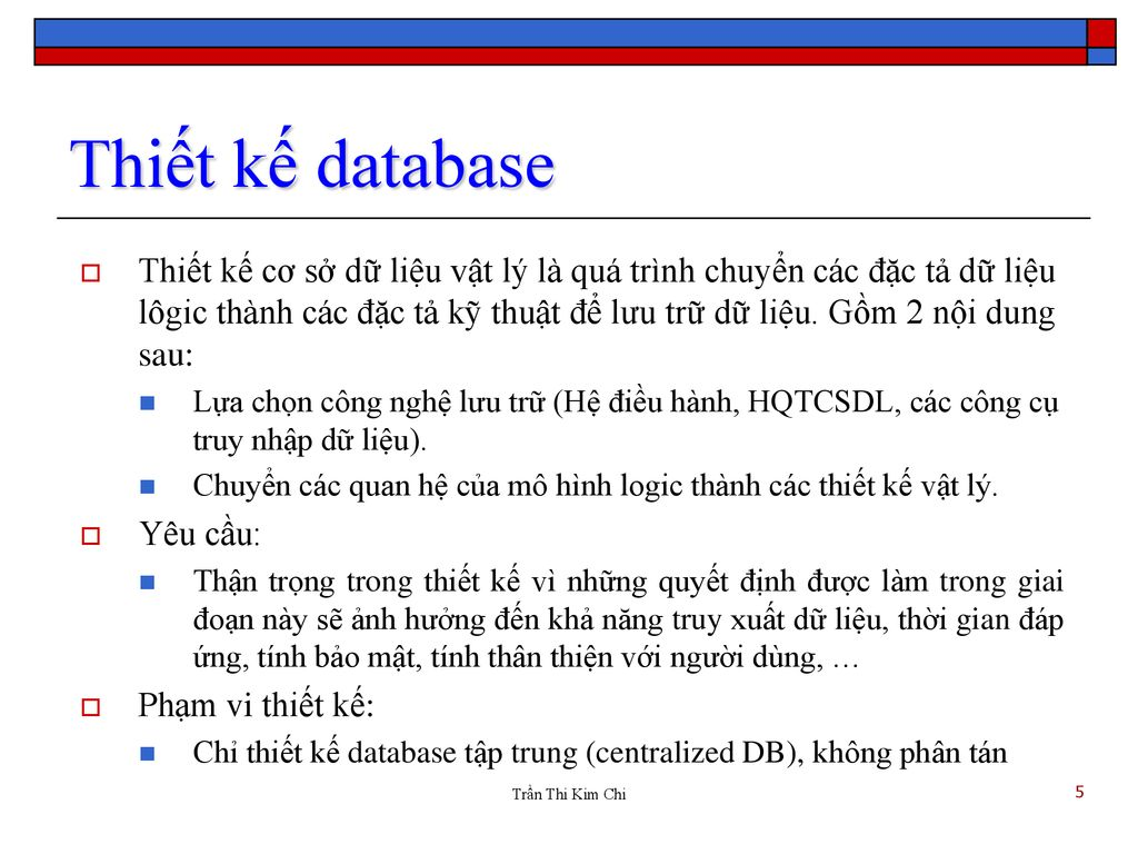 Thiết kế database