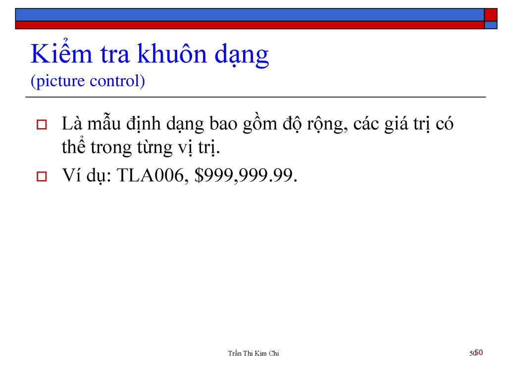Kiểm tra khuôn dạng (picture control)