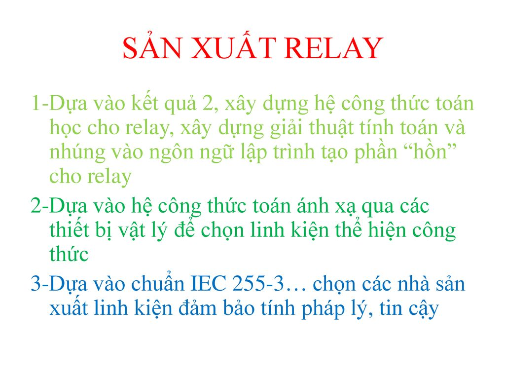 SẢN XUẤT RELAY