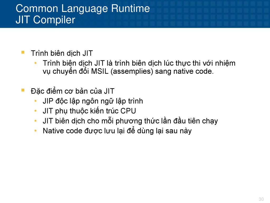 Common Language Runtime JIT Compiler