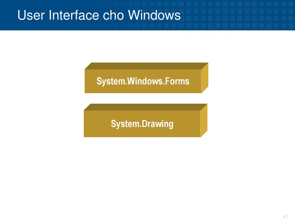 User Interface cho Windows